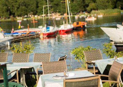 Restaurant Zum Schinakl - Ausblick vom Gastgarten